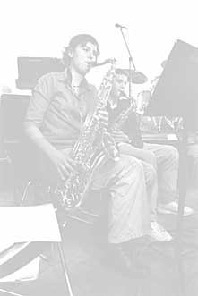 Jazz-Saxophonistin am AGD